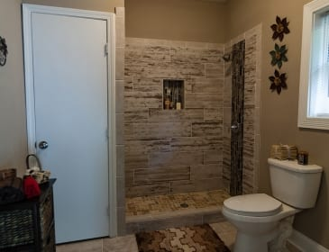 New shower and tile work in Atlanta remodel