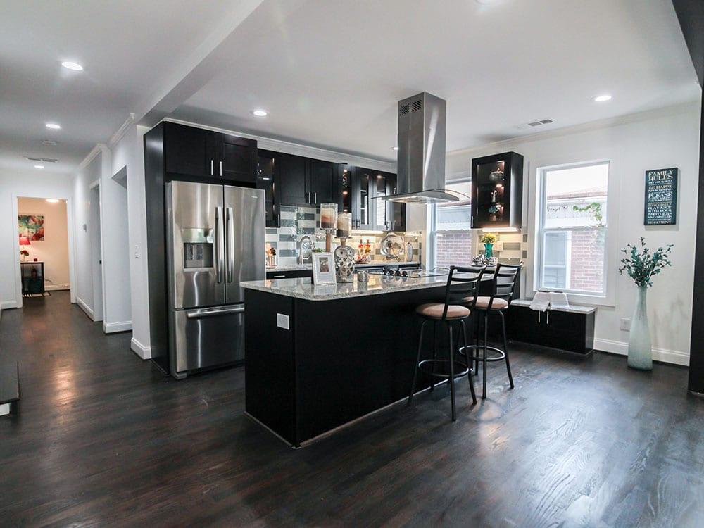 Open Concept Kitchen Remodeled In Atlanta
