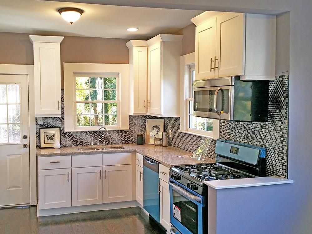 Updated Kitchen Backsplash In Atlanta Home