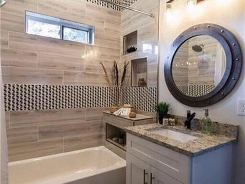 jack and jill bathroom design idea in southeast atlanta