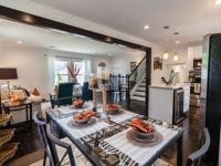 Open concept dining-living room and kitchen interior design ideas 2