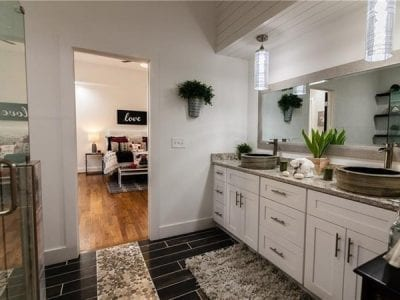 Master bathroom after whole house remodel