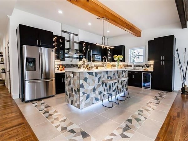 Newly remodeled kitchen after full home remodeling